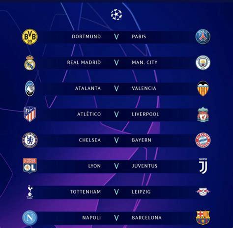 Quedaron definidos los Octavos de Final de La Champions ...