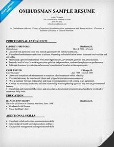 Ombudsman Resume Sample  Resumecompanion Com