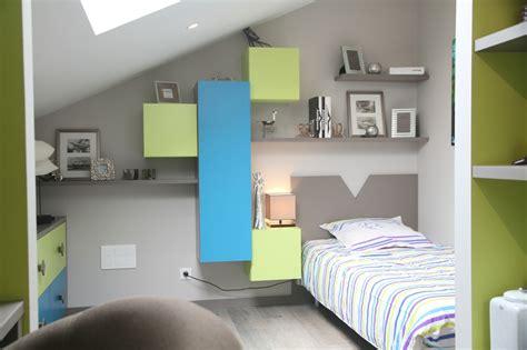 chambre couleur bleu et gris chambre ado vert et gris design de maison