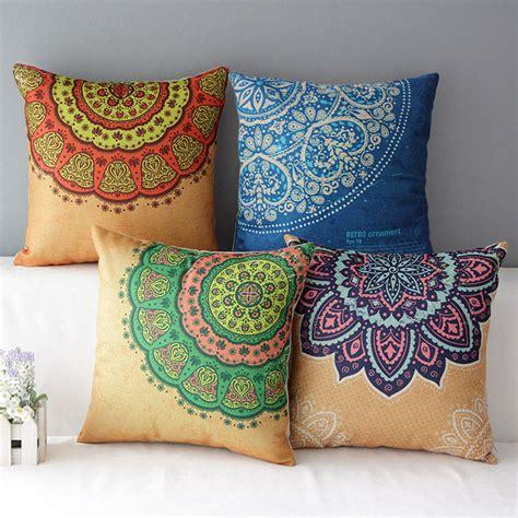 mediterranean cushion colorful decorative pillows housse de coussin striped ethnic almofadas