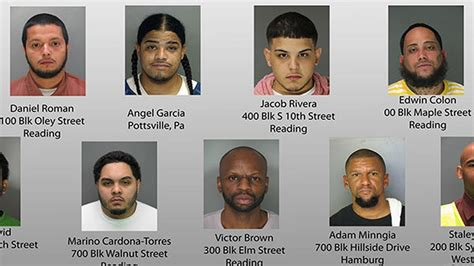 48 charged in major bust in berks county 6abc com