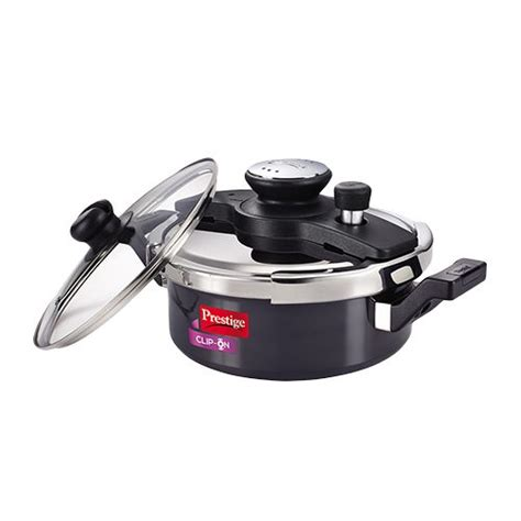 prestige pressure clip cooker ha cookware duo kitchen stick non hard litre steel cookers annodised 3l bigbasket fry kadai clipon