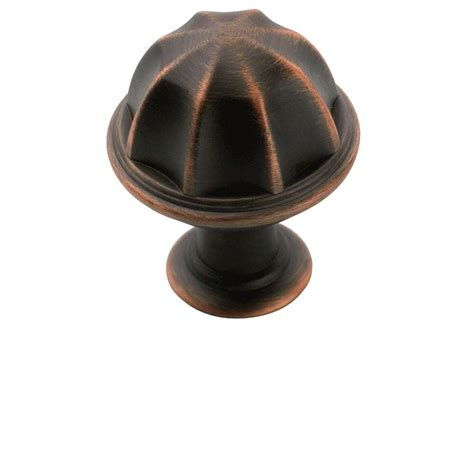 lowes kitchen cabinet knobs shop amerock eydon oil rubbed bronze mushroom cabinet knob