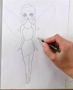 Zeichnungen Mit Bleistift Für Anfänger : fee zeichnen lernen mit bleistift schritt f r schritt video tutorial ausmalbild mal ~ Frokenaadalensverden.com Haus und Dekorationen