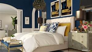 Sleek, And, Sophisticated, Navy, Bedroom, In, 2020