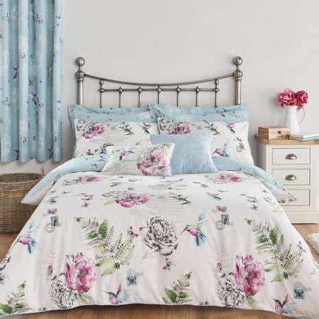 heavenly hummingbirds duck egg bed linen collection dunelm