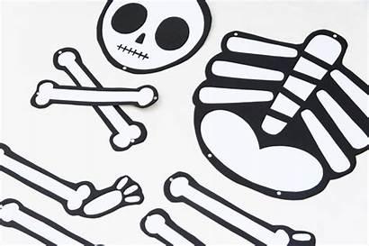 Skeleton Printable Diy Halloween Scary Cut Template