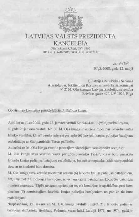Par latviešu kaujas policijas bataljonu reabilitāciju ...