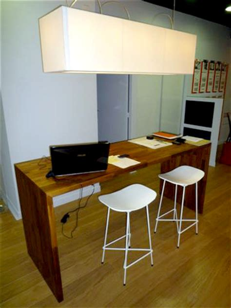 plan de travail bureau bureau flip design bois