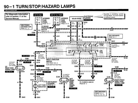 2000 Ford E 350 Electrical Wiring Diagram Circuit Schematic Learn by Emergency And Directional Lights Are Not Working