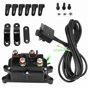 12v For Atv Utv In Combo Solenoid Relay Contactor  U0026 Winch Rocker Thumb Switch Us