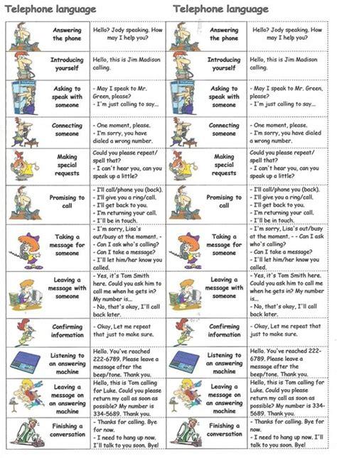 vocabulary  phrasal verbs  english telephone