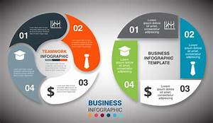 Business Infographic Diagram Design With Round Cycles Free Vector In Adobe Illustrator Ai    Ai