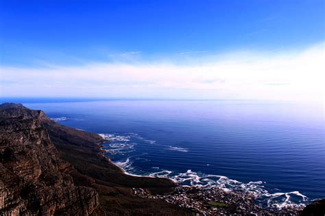Beautiful Views From The Top Of Table Mountain In South