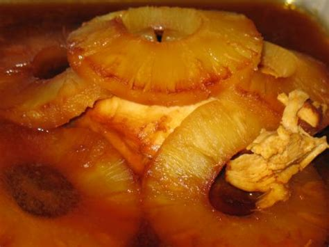 chicken baked  pineapple molasses recipe sparkrecipes