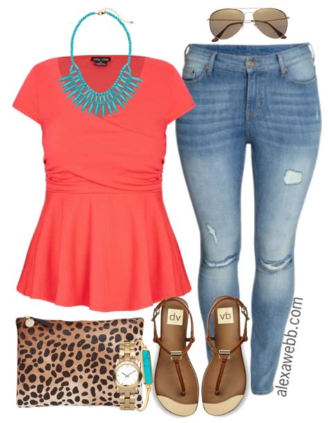 Plus Size Outfit Ideas - Summer Brights - Alexa Webb