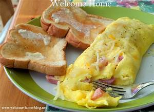 Welcome Home Blog: Perfect Ham and Cheese Omelette