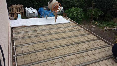 comment realiser une fondation  une terrasse en beton