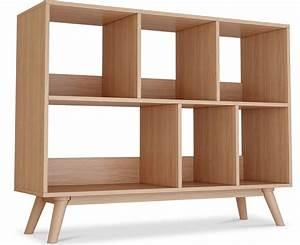 Bibliotheque Bois Clair : biblioth que 6 compartiments bois naturel scandinave ~ Teatrodelosmanantiales.com Idées de Décoration