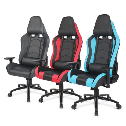 ikayaa gaming chair computer chair w recline height