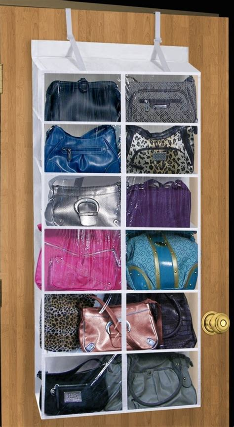 closet handbag organizer how to organise purses in a closet