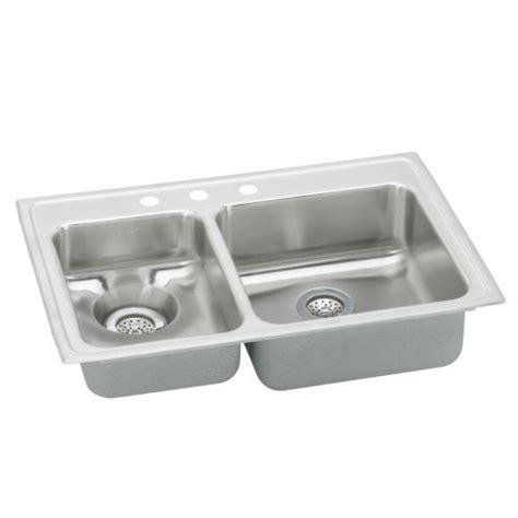 Elkay Bar Sink Drain by Elkay Lwr3322l Lustertone Single Bowl Waste All Sink With