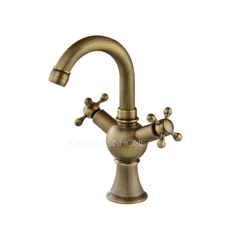 vintage bathroom sink faucets vintage antique brass two cross handle bathroom faucets
