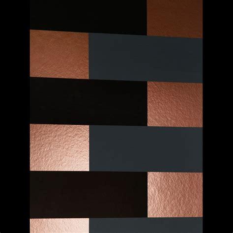 copper  black wallpaper block copper grey black