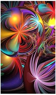 Colorful Flower Abstract Wallpaper and Background Image ...