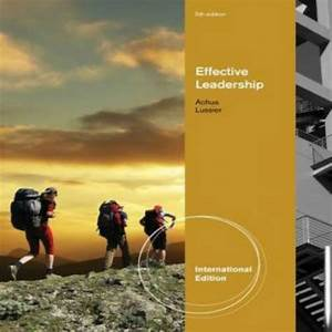 Solution Manual For Effective Leadership International
