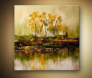 bunch of trees reflected in swamp - Landscape and Modern ...