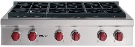 Wolf Srt366lp 36 Inch Pro-style Gas Rangetop With 6 Dual