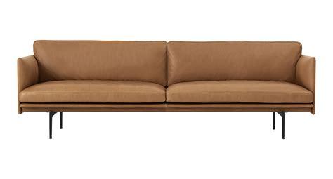 canapé 220 cm canapé droit outline 3 places l 220 cm cuir cuir