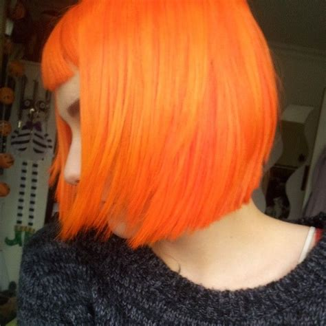 Bright Orange Bob Hair Bright Dyed After I Get Bored