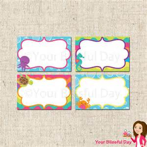Label Template 8 Per Sheet Printable The Sea Label Tents By Your Blissful Day Catch My