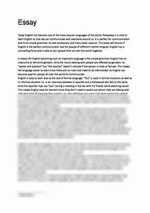 essay on english language   essay on mango tree in english