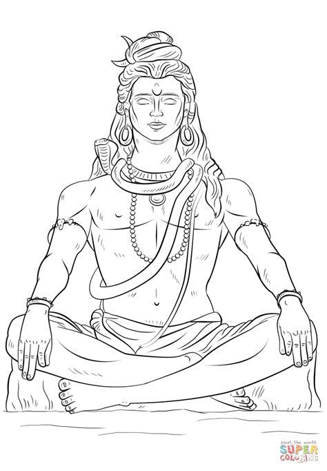 Lord Shiva | Super Coloring | Lord shiva painting, Shiva