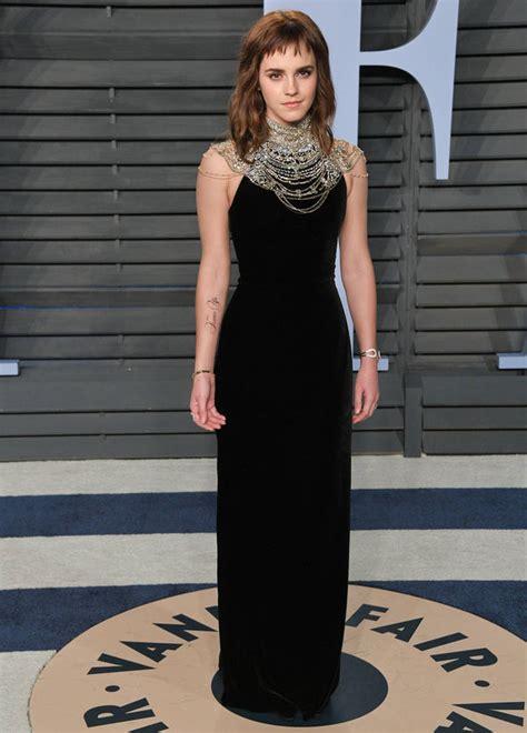 Oscars Emma Watson Unveils Time Tattoo But