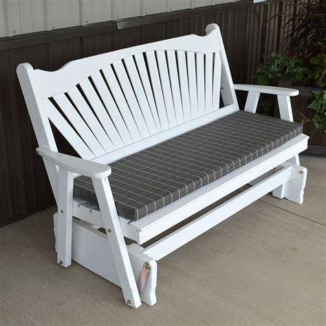 porch bench glider a l furniture co fanback outdoors porch glider bench