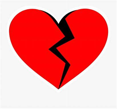 Heart Broken Clipart Background Transparent Shape Trai