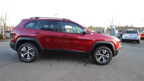 jeep cherokee trailhawk red 2014 jeep cherokee trailhawk dark cherry red ew157153