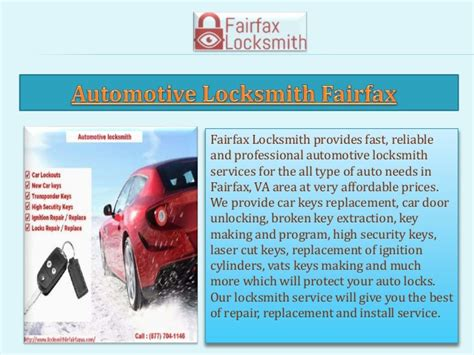 provide fast  reliable locksmith  fairfax va