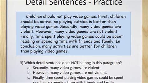 paragraphs part iii detail sentences youtube