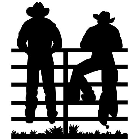 Metal Wall Art Silhouettes OLD WEST