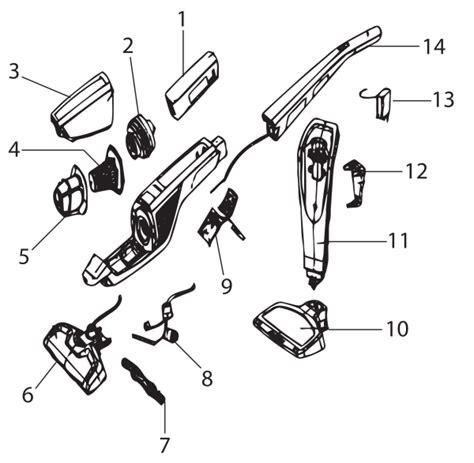 Electrolux Ela Stick Vacuum Parts List Diagram
