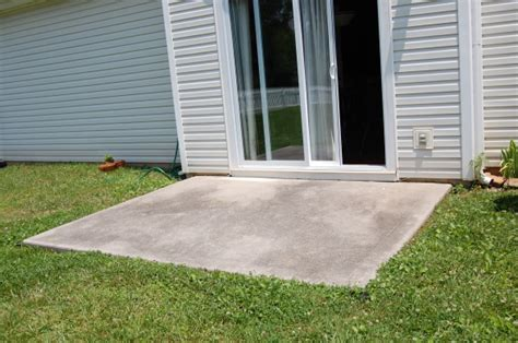 Backyard Concrete Slab by Concrete Slab Patio Makeover
