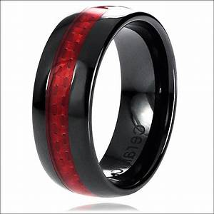 Black And Red Mens Wedding Band Wedding Gallery