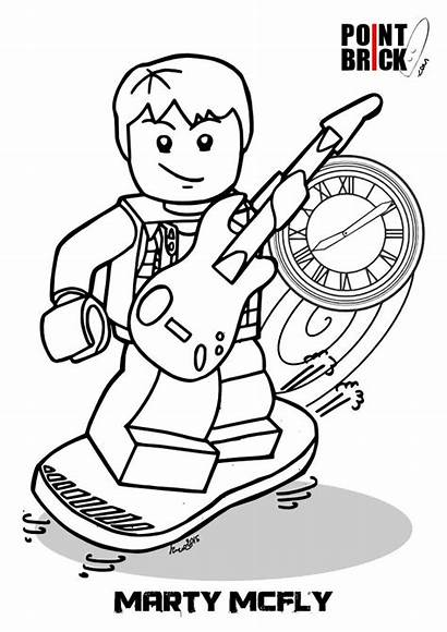 Coloring Future Pages Lego Dimensions Marty Mcfly