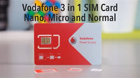 insert  vodafone    sim card nano micro