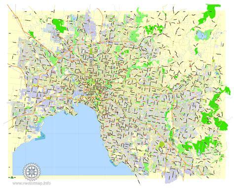 melbourne vector map printable city plan editable